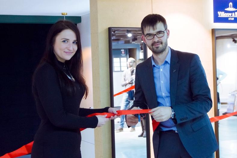 открытие бренд-зоны сантехники villeroy & boch
